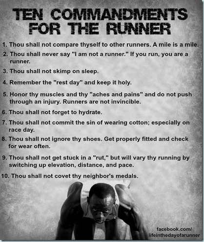 10 commandments of runnig