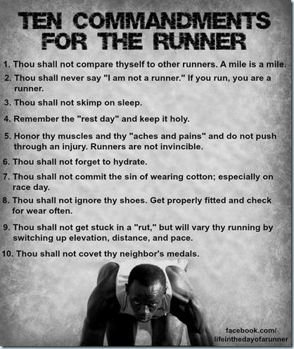 10 commandments of runnig