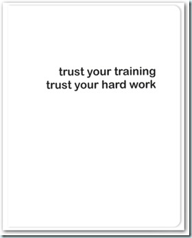 trust in your training