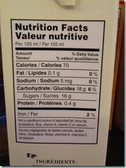tazo nutritional info