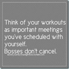 schedule your workouts