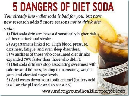 5 dangers of diet soda