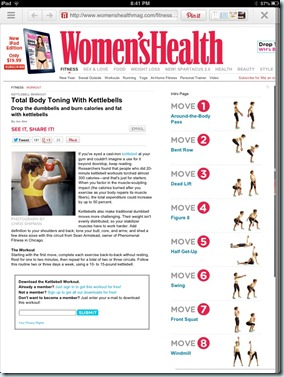 women's health kettlebell