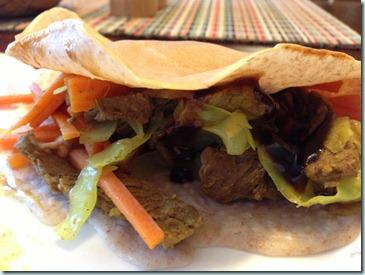 mongolian beef crepes