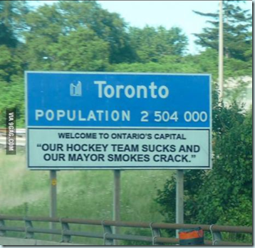 toronto mayor leafs joke