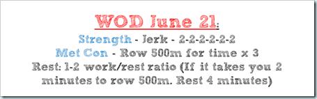June 21 WOD