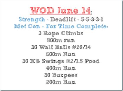 WOD June 14