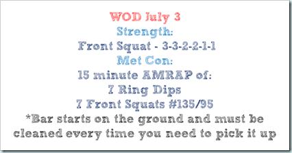 WOD july 3