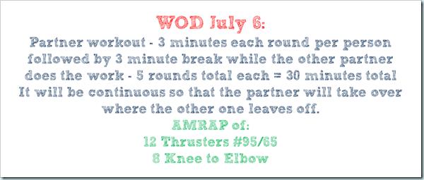 WOD july 6