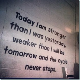 stronger than yesterday not as stong as tomorrow