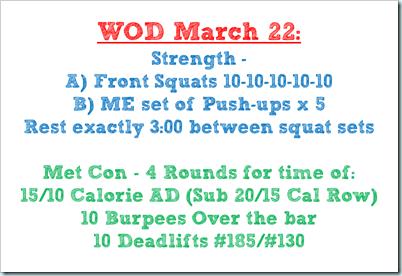 wod march 22
