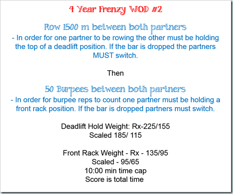 4 year frency wod 2