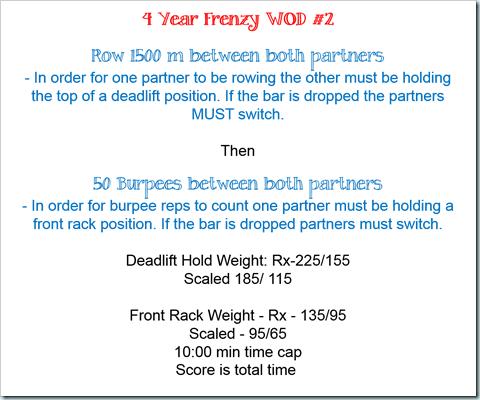 4 year frency wod 2