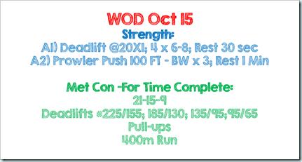 wod oct 15