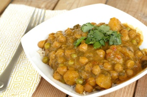butternut squash chick pea curry