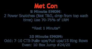 MetCon Oct 16