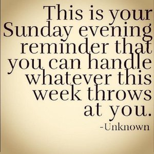 sunday reminder